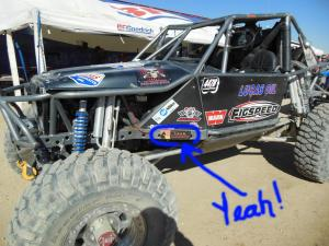 LEAN Horses on board with the Lucas Oil Team Figspeed Speed Shop during the King Of The Hammers 2013 offroad race
