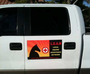 Our fantastic LEAN truck and trailer signs funded by Freedom for Wild Horses ranch and created by Armed Forces Awards - Now peeps will know when a LEAN truck is on a mission or a LEAN rescue horse is on the move!