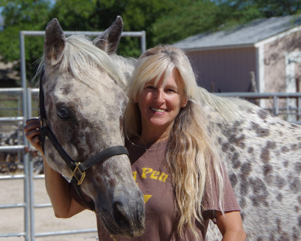 She finds her forever home in October at the pastures of Windy's Ranch & Rescue with Janice Ridondo.